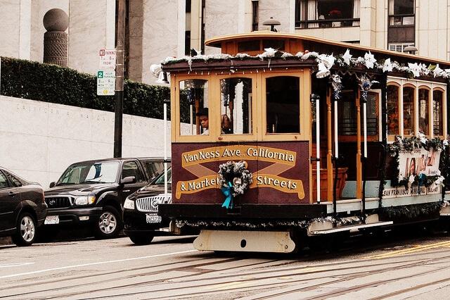 Cable car, tramway San Francisco
