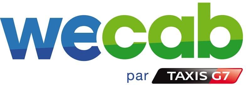 Grand logo WeCab, taxi partagés