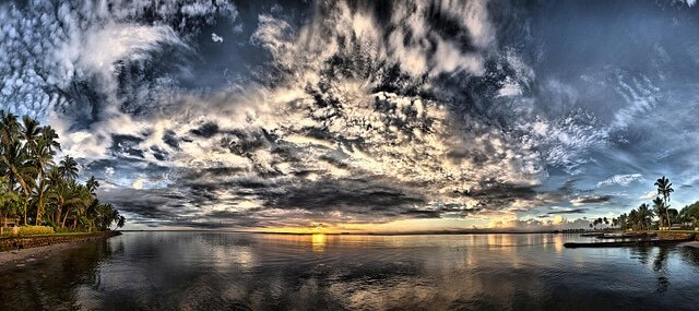 Îles Fidji, coucher du soleil