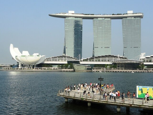 Marina Bay Sands building le plus cher Singapour