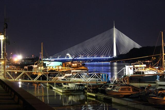 Pont Belgrade Nuit
