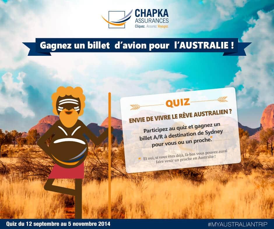 Quiz Chapka Assurance Australie