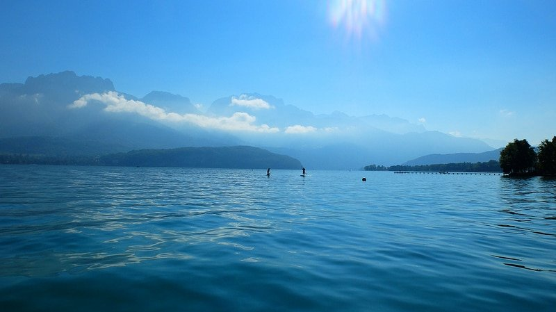 Stand-up paddle, Lac d'Annecy