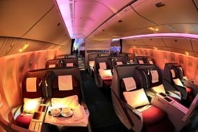 Surclassement avion business class