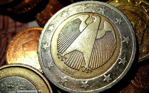 Verso pièce de 2 euros Allemagne, pourboire