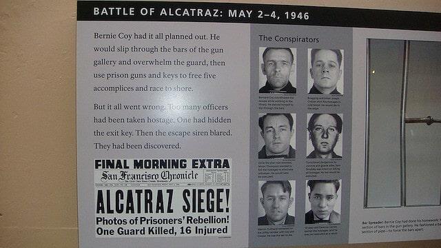 Bataille d'Alcatraz, détenus