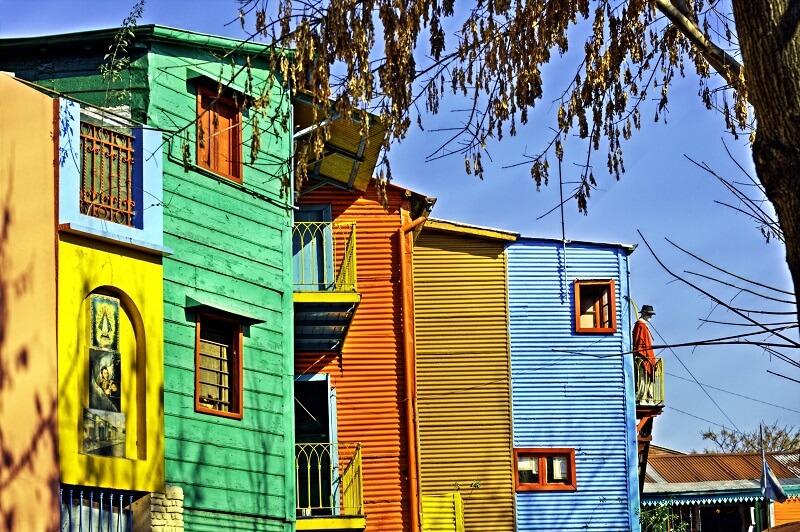 Bâtiments les plus colorés du monde, couleurs