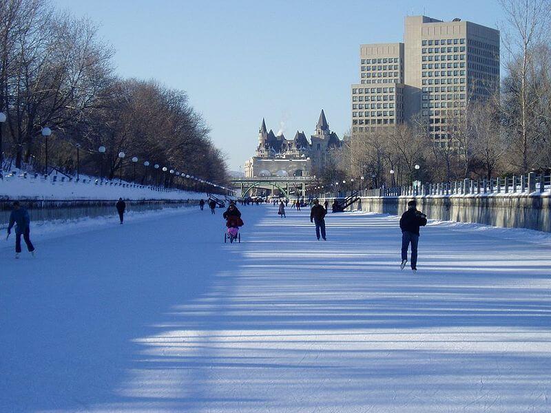 Canal Rideau, Ottawa, patinage, Canada