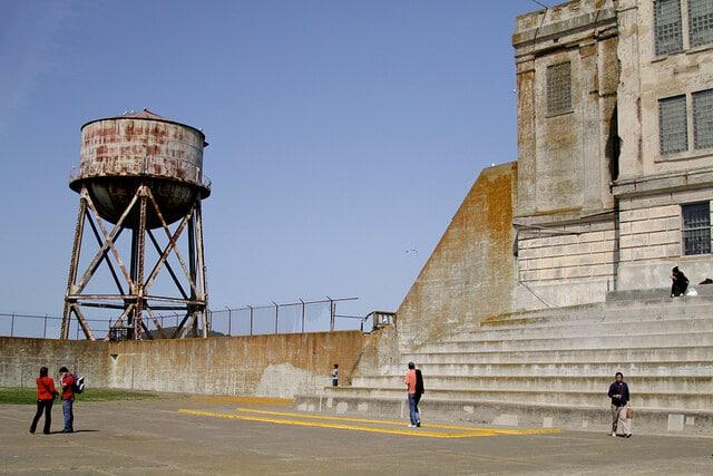 Cour récréative de la prison d'Alcatraz