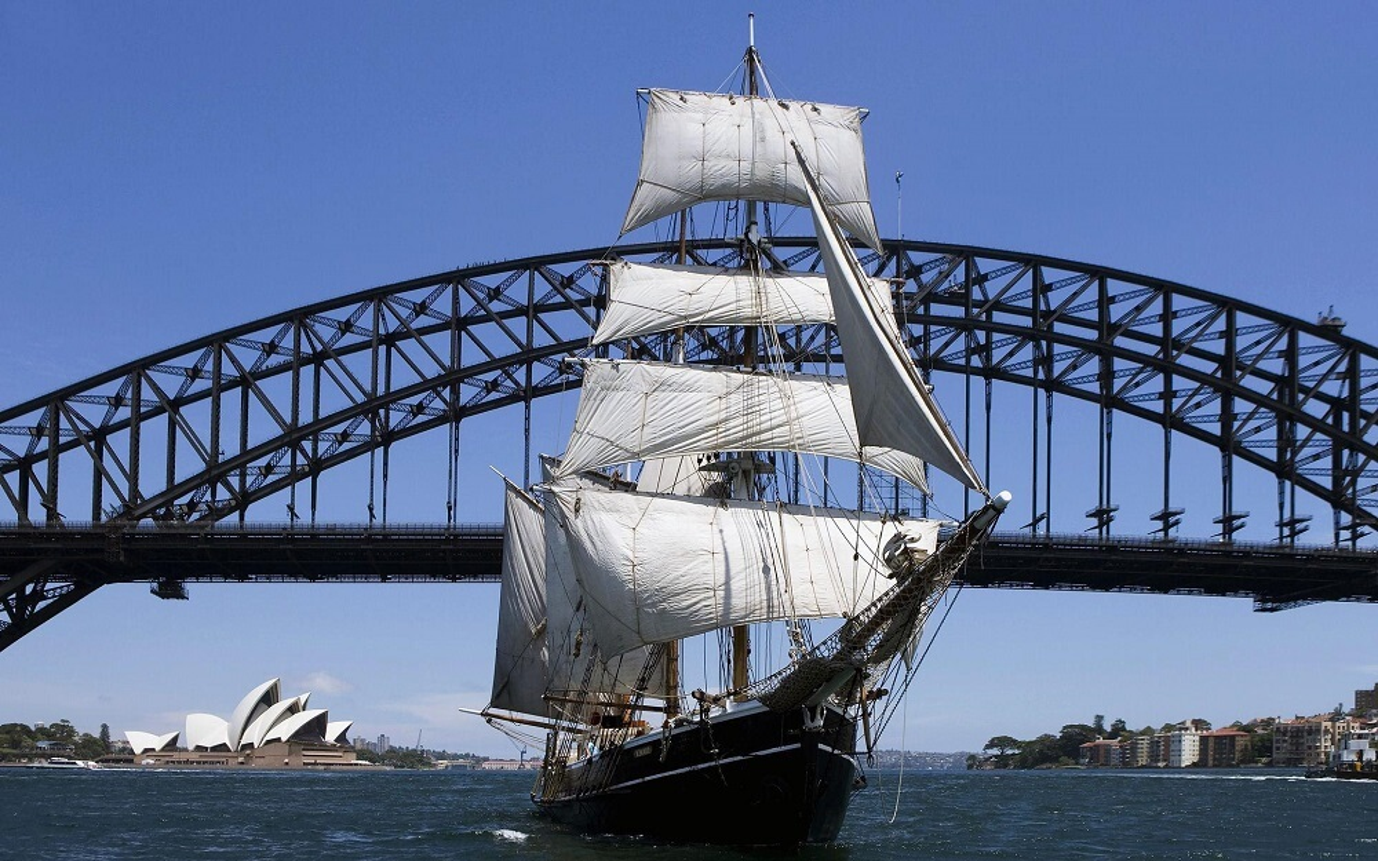 Croisière dans la baie de Sydney sur un voilier de 1850