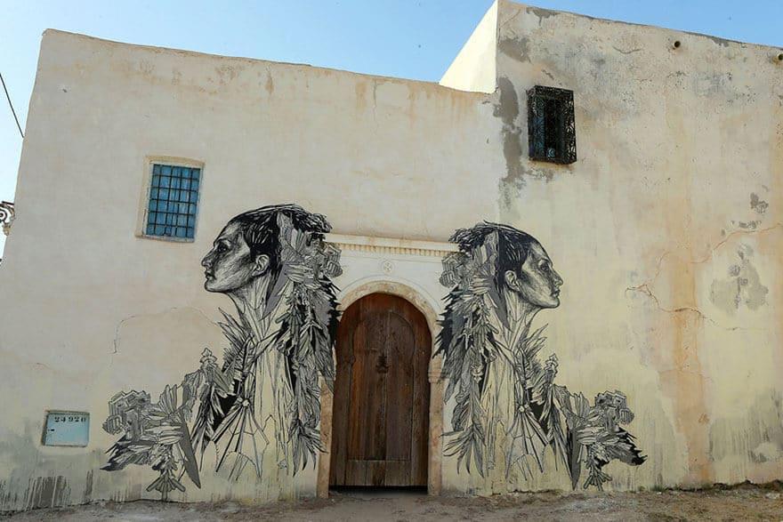 Djerbahood, Erriadh, Tunisie, street-art musée à ciel ouvert
