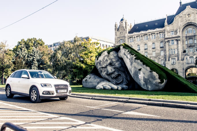 Feltépve, sculpture ArtMarket Budapest, Ervin Loranth Hervé