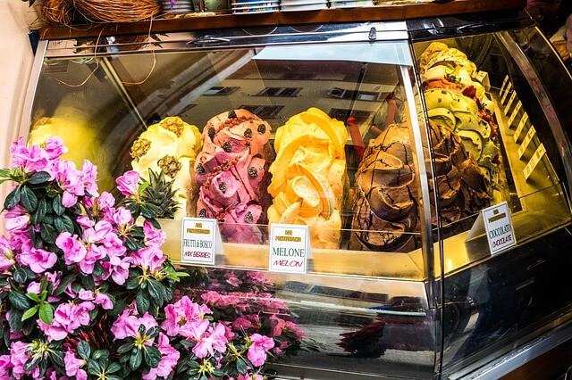 Gelatelaria, glace, Florence