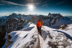 Jakub Polomski, photo Aiguille du Midi, Chamonix