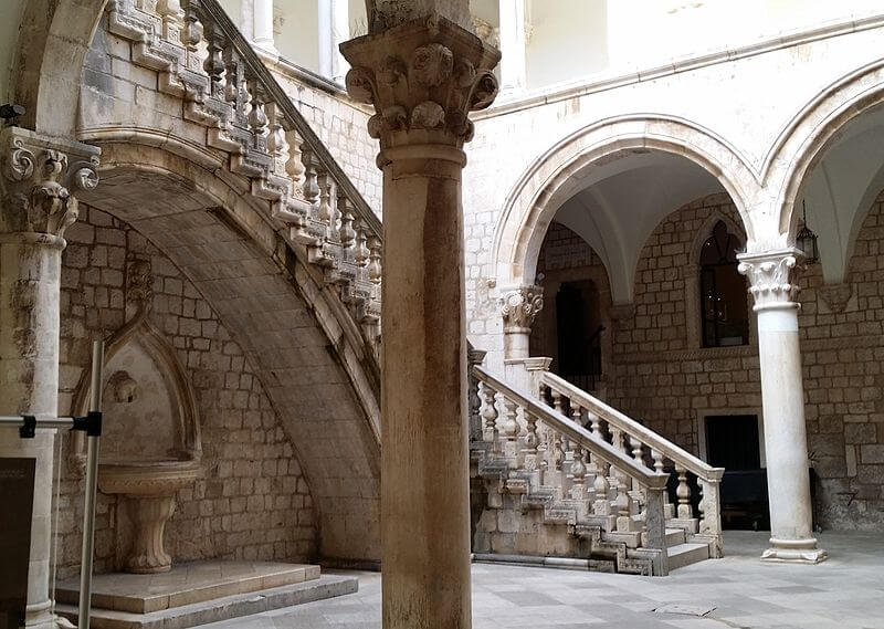 Palais du recteur de Dubrovnik, scène Games of Thrones quand le roi Spice refuse des navires à Daenerys