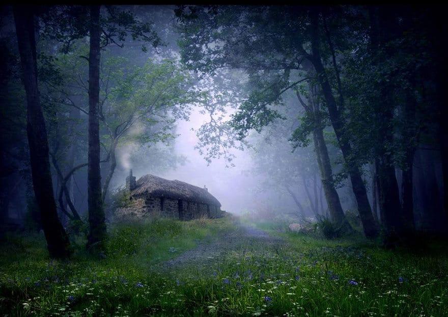 Petite maison isolée pour vivre tranquille, au calme, photos de paysage