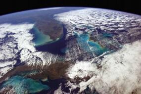 Photo de la Terre depuis l'espace par Chris Hadfield