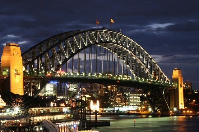Pont de Sydney, Harbour Bridge, escalade de nuit