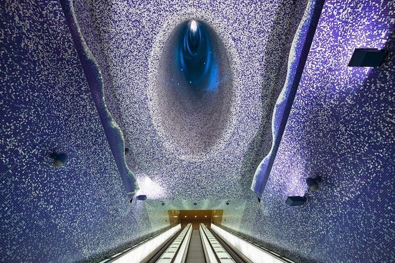 Station de métro Toledo, Naples, galerie d'art Italie