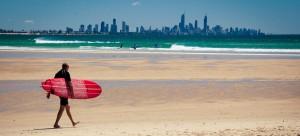 Surfeur Gold Coast, Working Holiday Visa, Australie
