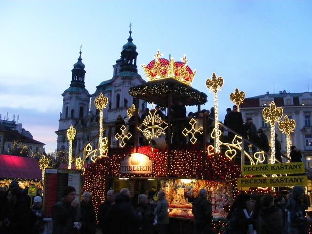 Vánoční trhy, marché de Noël, Prague