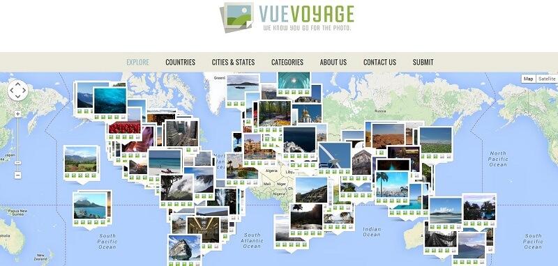VueVoyage, site de photos de voyage