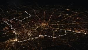 8000 ballons illuminés recréent le tracé du Mur de Berlin, 9 novembre 2014