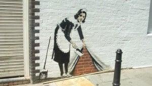 Banksy femme