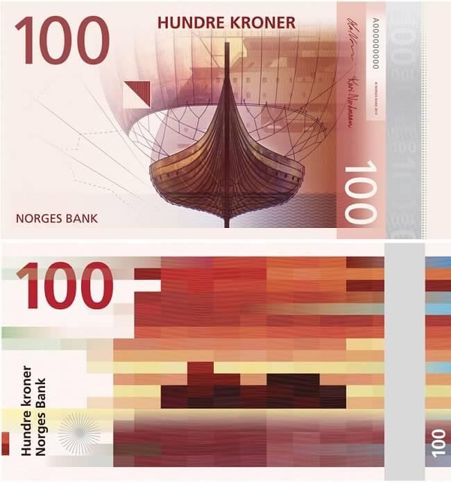 Billet de banque Norvège 100 couronnes