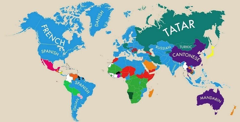infographie la seconde langue la plus parl e dans chaque pays. Black Bedroom Furniture Sets. Home Design Ideas