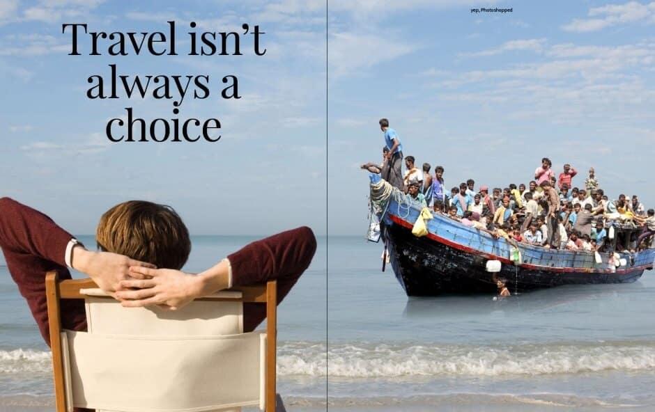 Voyager n'est pas toujours un choix: 8 photos chocs