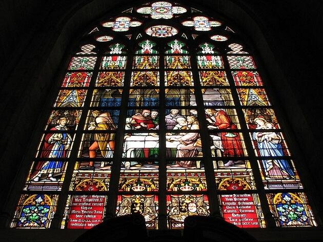 Eglise Saint Michel, vitraux bruxelles
