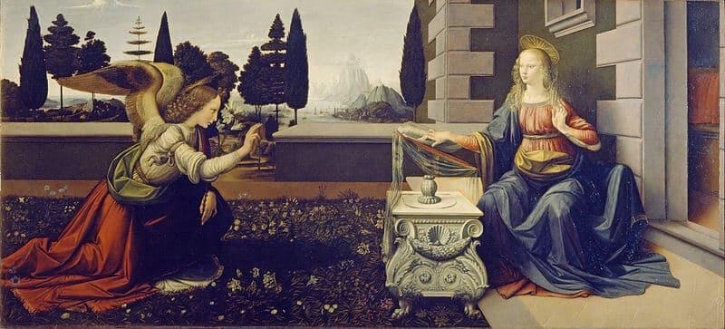 Leonardo da Vinci, L'Annunciazione, Galerie des Offices