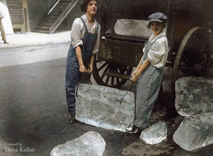 Photos colorisées du 20 ème siècle, histoire, passé
