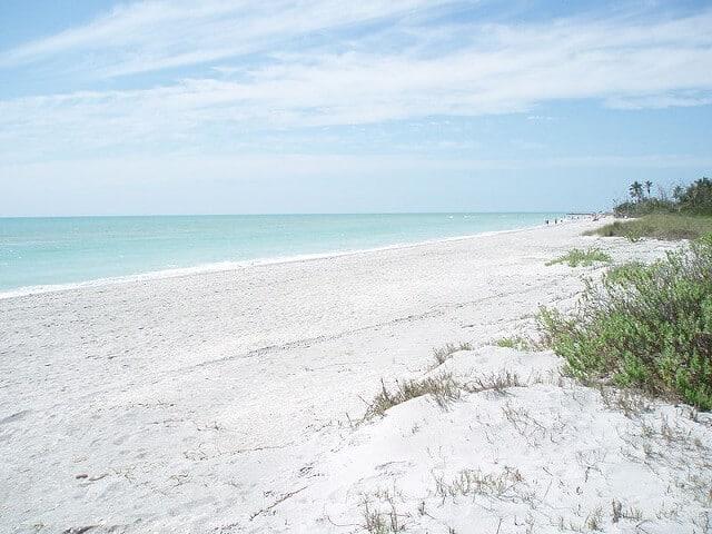 Plage, île de Sanibel, Floride