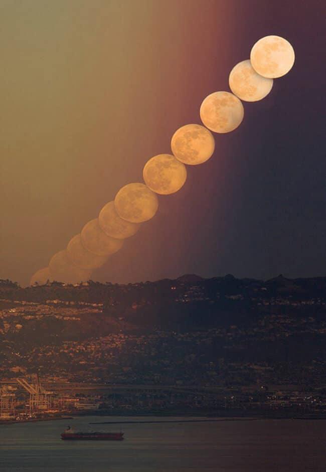 Tracé de la Lune dans le ciel