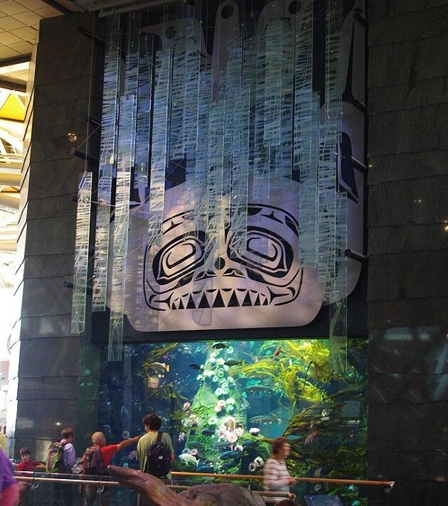 Aquarium aéroport de Vancouver Canada