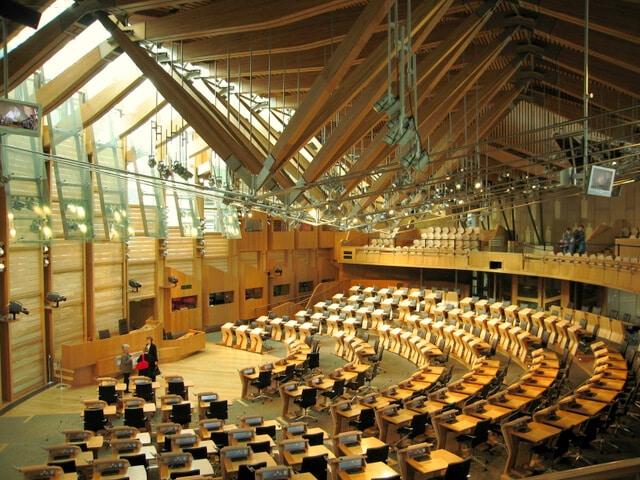 Bâtiment du parlement écossais, Edimbourg