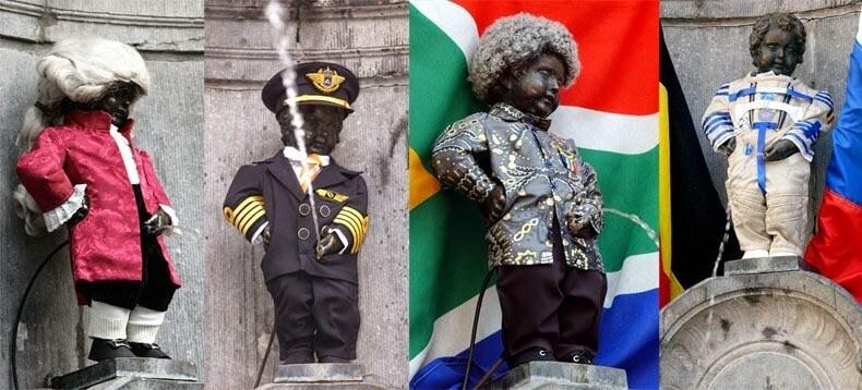 Manneken-Pis Bruxelles Statue qui pisse