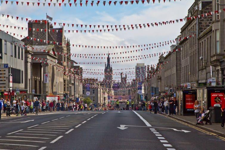 Union street à Aberdeen