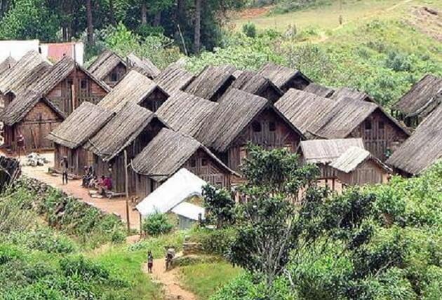 Village Betsileo Madagascar
