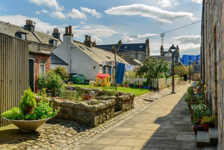 Fittie, village des pêcheurs, Aberdeen