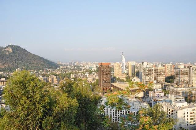 Vue depuis le Parque Metropolitano, Cerro San Cristobal, Santiago