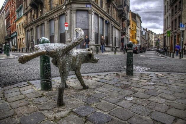 Manneken Pis : découvrez les autres statues «qui pissent» de Bruxelles