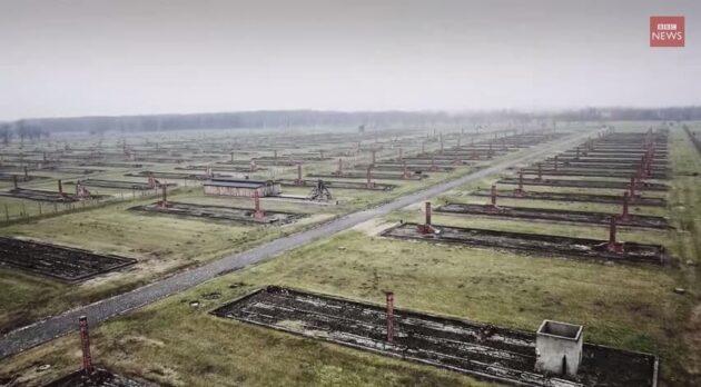 Un drone capture des images aériennes poignantes d'Auschwitz, 70 ans après