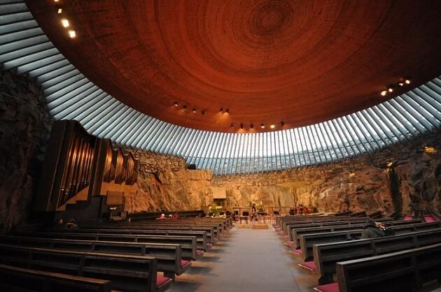 Eglise Temppeliaukio, Helsinki