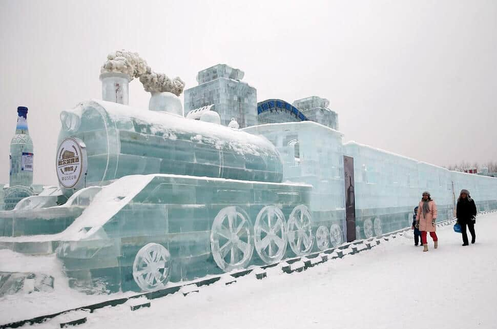 26 photos féeriques du festival de sculptures sur glace de Harbin