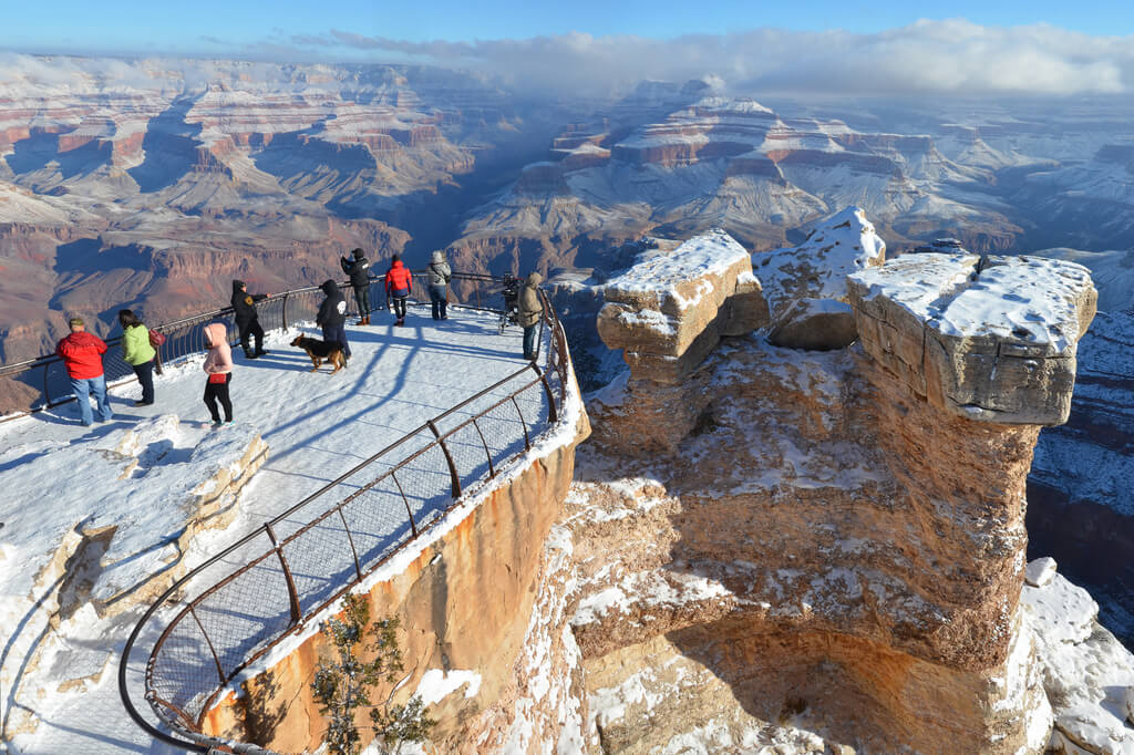 Grand Canyon, neige hiver