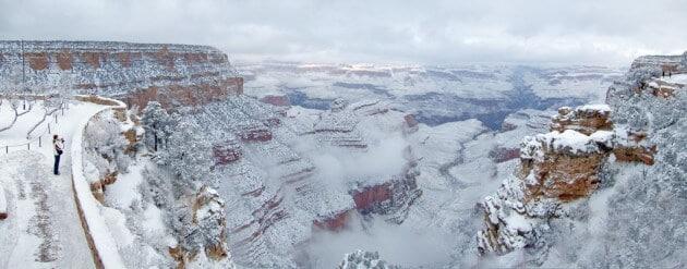 "Une tempête transforme le Grand Canyon en ""paradis hivernal"""