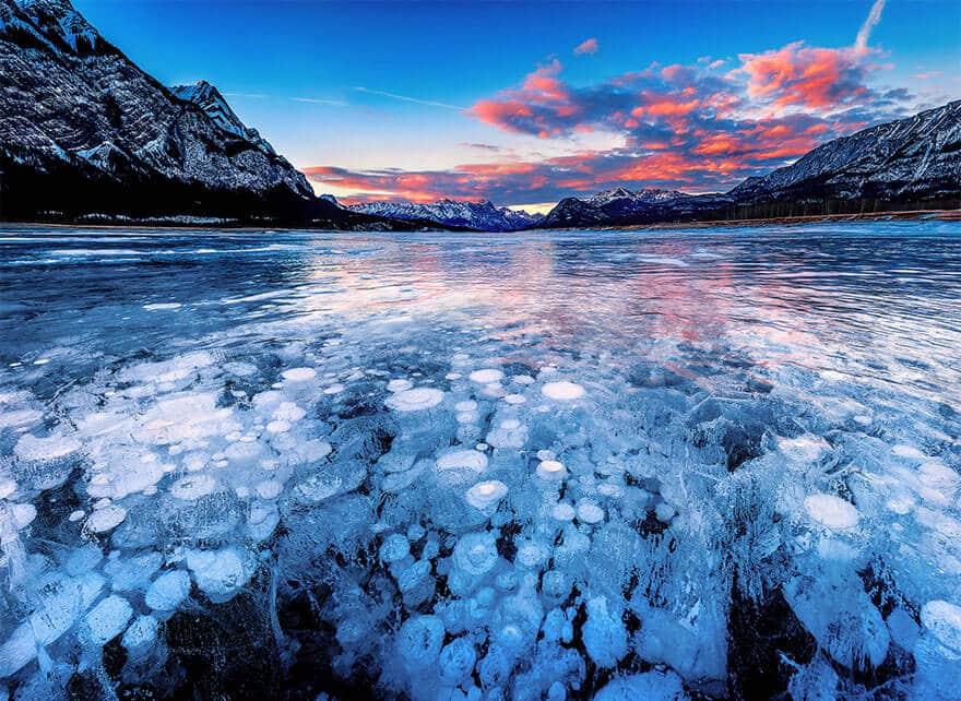 Lacs, océans, étangs gelés art
